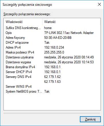 Jak sprawdzić wewnętrzne IP?