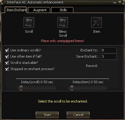 Bot ihack doLineage 2 Automatic enhancement