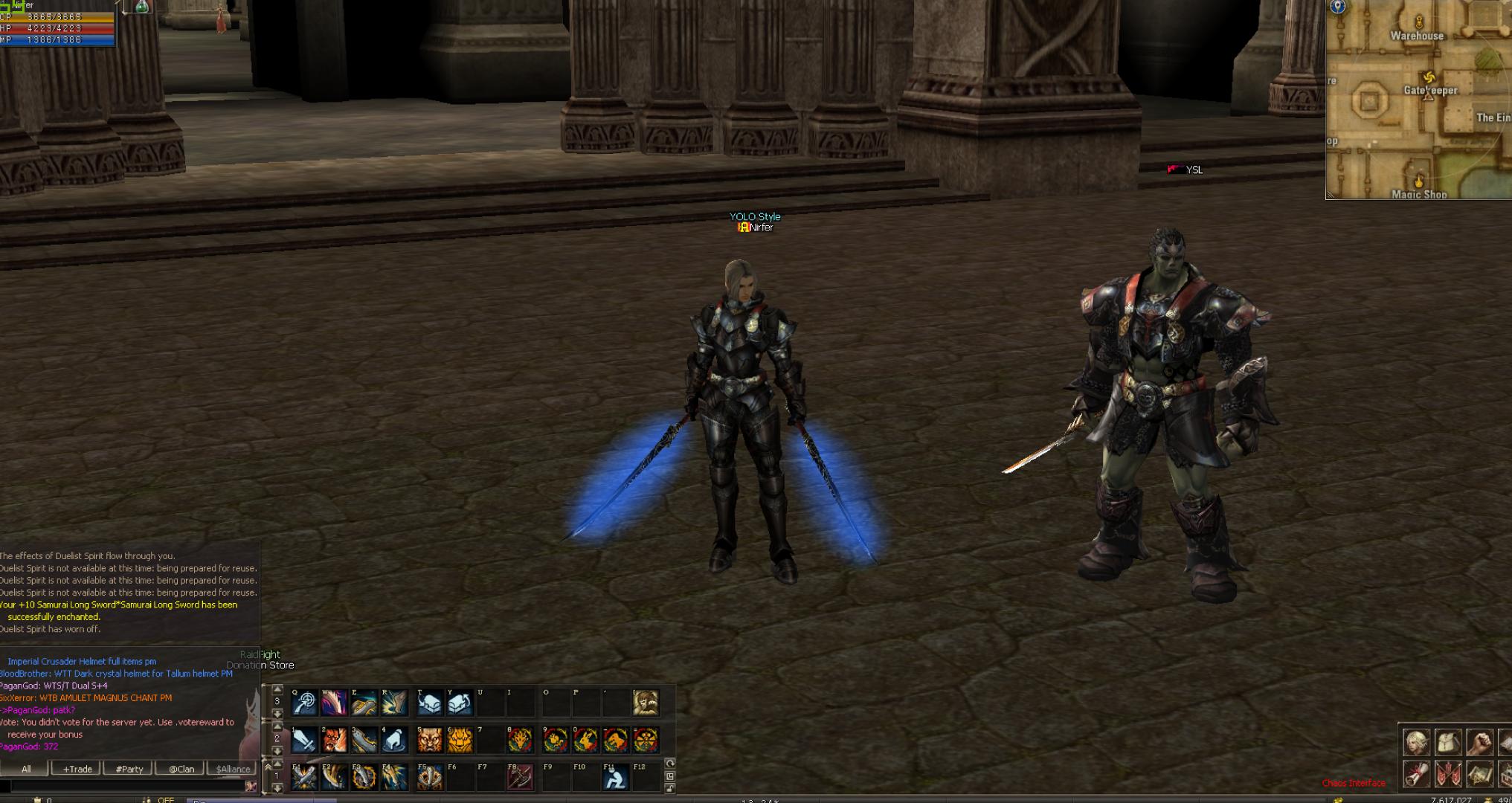 najlepiej wyglądające bronie wMMORPG samurai long sword