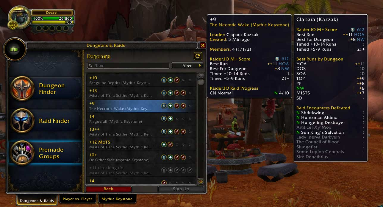 Szukanie grupy World of Warcraft